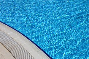 32995600 - blue clear water in the swimming pool