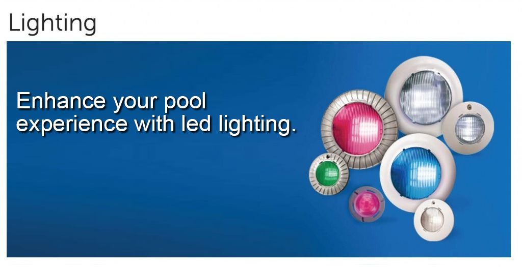 Pool equipment, lighting