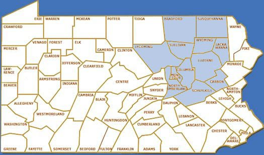 Map of areas we Service, About Us at skovish Pools and spas